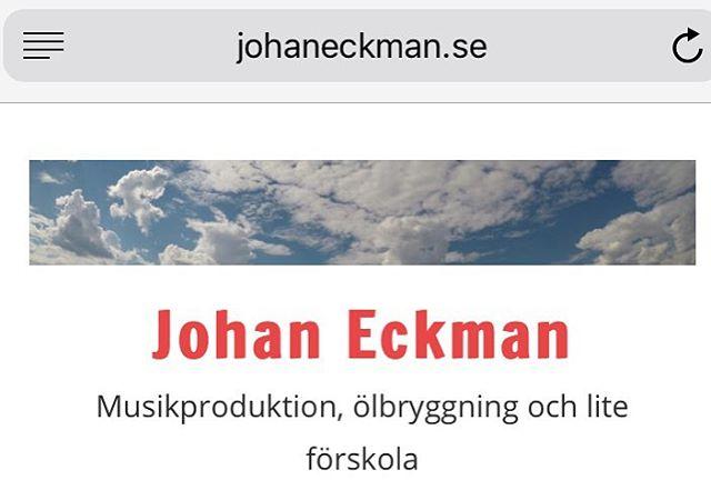 Jag har kickstartat min blogg igen efter typ fem års frånvaro. http://www.johaneckman.se